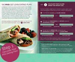PiYo Get Lean Eating Plan