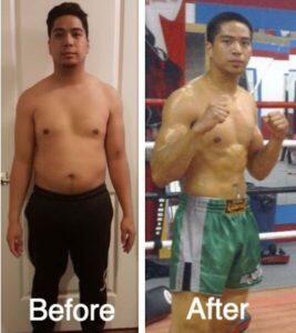 Fat Shredder Kickboxing Before After